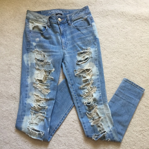 5686ae1518e AMERICAN EAGLE destroyed bleach patterned jeans. American Eagle Outfitters.  M_5cf587098557af9464addf5a. M_5cf587098557af9464addf5a